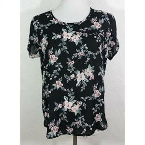 Persaya XL Top Floral Short Sleeve Multicolor NWT